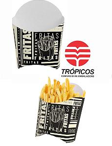 caixa Batata Fritas Black/Amarela 96x120x63mm