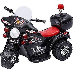 Mini Moto Elétrica Infantil Preta - brink+