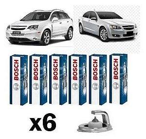 Jogo de Vela Ignição Original Bosch Platinum Gm Captiva e Omega 3.6 V6
