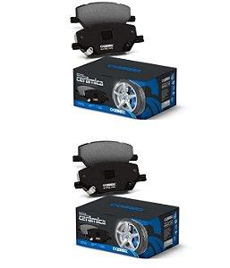 Kit Pastilha de Freio Dianteira e Traseira Original Cobreq Cerâmica Toyota Corolla 2015 2016 2017 2018 2019 2020 2021