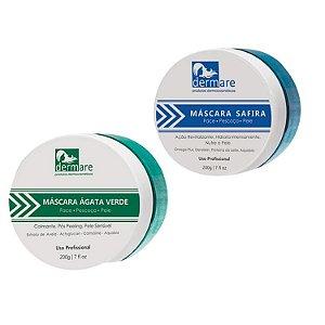 2x Mascaras Dermare - Agata Verde + Safira