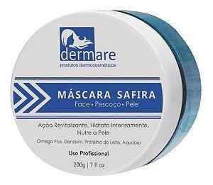 Mascara Tratamento Facial Safira Azul 200g Dermare