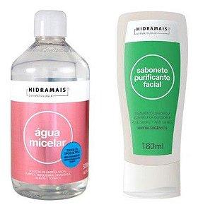 Agua Micelar 500ml + Sabonete Purificador Facial 180ml