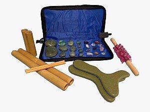 Kit Massagens Com Pedras Quentes Quartzo Verde 110v Completo