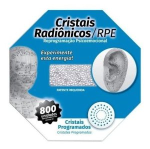 Cristais Radionicos P/ Acupuntura Quantica Kit 5 Cartelas