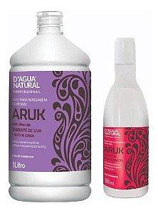 Kit Dagua Natural Oleo Aruk 1l + Oleo Rosa Mosqueta 300 Ml