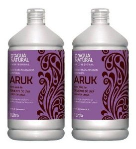 Oleo Semente De Uva E Cereja Aruk 2x 1litro Dagua Natural