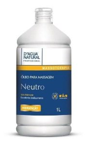 Oleo Neutro Para Massagem Corporal 1l - Dagua Natural