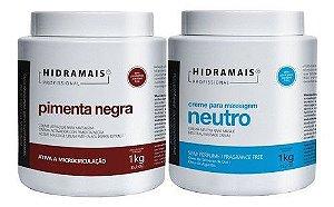 Kit Hidramais Pimenta Negra 1 Kg + Neutro 1 Kg