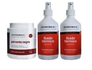 Kit Hidramais 1 Pimenta Negra 1kg + 2 Fluidos Termico 500ml