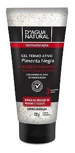 Pimenta Negra Gel Termo Ativo 200g - D Agua Natural