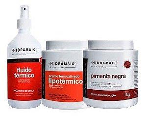 Kit Hidramais 1 Lipotermico 1 Fluido Termico 1 Pimenta Negra