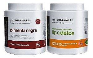 Kit Hidramais Profissional Pimenta Negra 1kg + Lipodetox 1kg