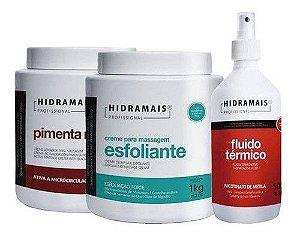 Kit Hidramais 1 Fluido Termico 1 Pimenta Negra 1 Esfoliante