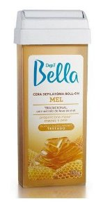 Kit 6 Refil Cera Depilatoria Roll-on Depilbella Mel Deo 100g