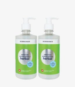 Sabonete Hidramais Antibacteriano Herbal 500 Ml - 2 Unidades