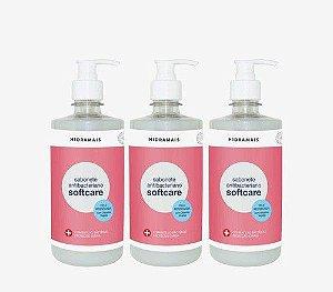 Sabonete Hidramais Antibacteriano Softcare 500ml 3 Unidades