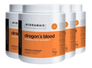 Combo 4 Hidramais Dragons Blood 1kg Creme Massagem Corporal