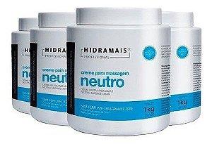 Creme Neutro 1 Kg Hidramais - 4 Unidades