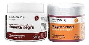 Kit Hidramais Profissional Pimenta Neg 500g+gel Dragons 500g