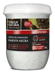 Creme De Massagem Pimenta Negra 650g - Dagua Natural