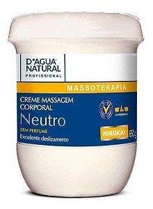 Creme De Massagem Corporal Dagua Natural 650g Ph Neutro