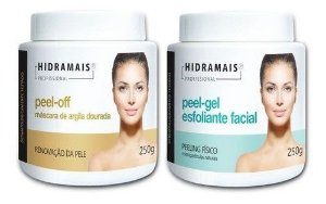 Kit 1 Argila Dourada + 1 Gel Esfoliante Facial Peel Off