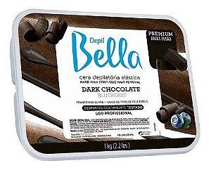 Cera Quente Elastica Em Barra Depil Bella 1kg Dark Chocolate