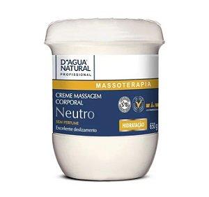 Creme Massagem Neutro Dagua Natural 650gr