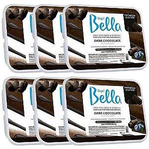 Cera Quente Em Barra Depil Bella 1kg - Dark Chocolate 6 Unid
