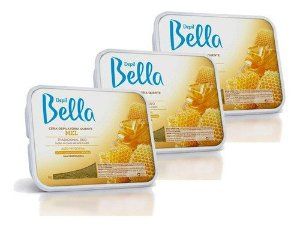 kit 3 Cera Depilatoria Quente Mel Depil Bella 1kg