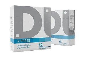 Agulha Auricular X-press C/ Micropore 50 Unid - Dux 1,5mm