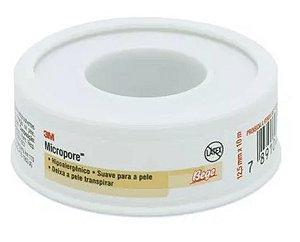 Fita Microporosa Micropore 3m Curativo 12,5mm X 10m - Bege