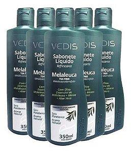 Sabonete Líquido Melaleuca 5 X 350ml Tea Tree Oil - Vedis