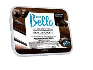 Cera Depilatoria Depil Bella Chocolate Dark 01kg Lançamento