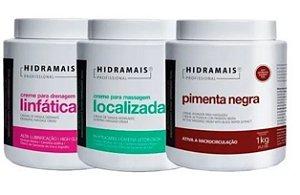 Kit Hidramais 1 Localizada + 1 Pimenta Negra + 1 Drenagem