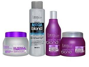 Kit Matizador, Mega Blond Black, Banho Perola 250gr