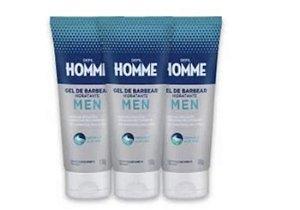 Kit C/3 Gel De Barbear Hidratante Depil Homme Masculino Deo