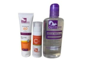 Kit Skin Care Vitamina C + Agua Micelar E Protetor Solar 60