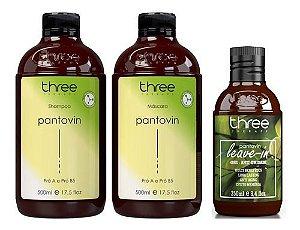 Pantovin Shampoo + Mascara Anti Queda Crescimento E Leave-in