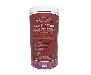 Creme De Massagem Drenagem Linfatica Drain Redux 1kg - Vedis