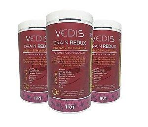 Creme De Massagem Drenagem Linfatica Drain Redux 3kg - Vedis