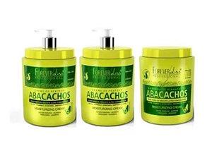 2 Cremes De Pentear Abacachos 950g+1 Mascara Abacachos 950g