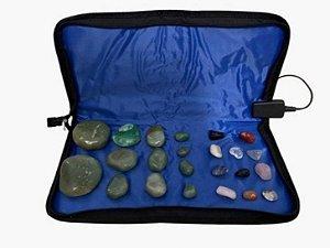 Kit 12 Pedras Quentes Verde Quartzo Para Massagem Relaxante 110v