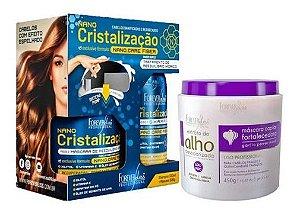 Nano Cristalização Capilar + Mascara Capilar De Alho