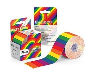 Fita Bandagem Kinesio Tape Tmax Pop Original Arco Iris