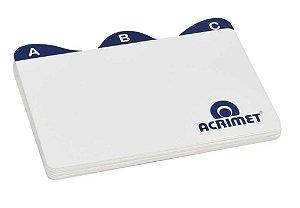 Indice Acrimet 631 de az para fichario de mesa 3x5
