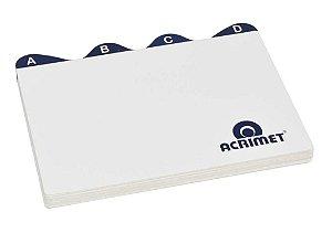 Indice Acrimet 632 de az para fichario de mesa 4x6