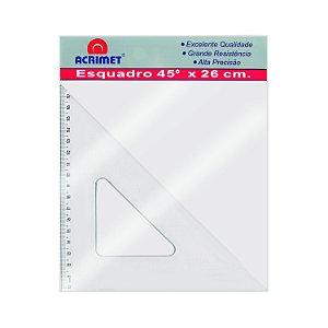 Esquadro Acrimet 542 escolar de 45 graus com 26 cm de comprimento