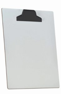 Prancheta Acrimet 112 de mdf branco A4 prendedor plastico